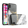 White-Black Marble & Digital Gold Foil V1 - iPhone X Swappable Hybrid Case