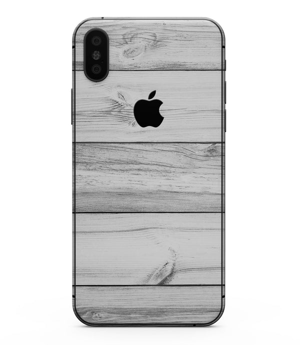 White & Gray Wood Planks - iPhone XS MAX, XS/X, 8/8+, 7/7+, 5/5S/SE Skin-Kit (All iPhones Available)