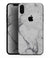 White & Grey Marble Surface V1 - iPhone XS MAX, XS/X, 8/8+, 7/7+, 5/5S/SE Skin-Kit (All iPhones Available)