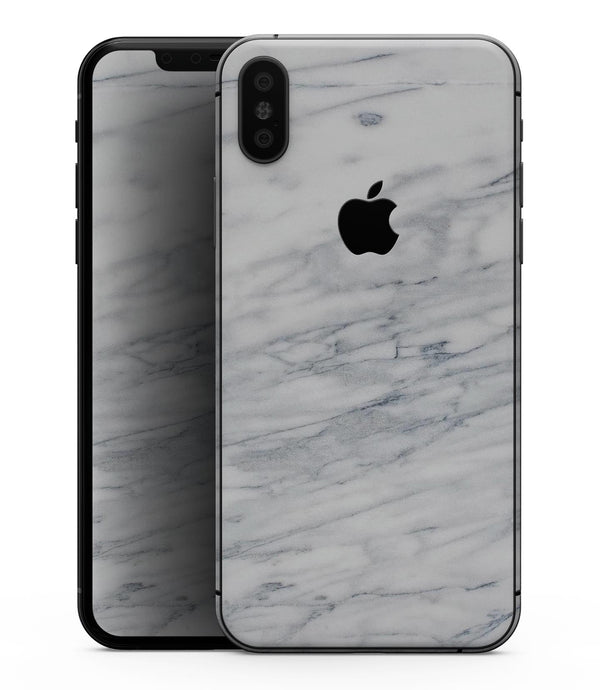 White & Grey Marble Surface V2 - iPhone XS MAX, XS/X, 8/8+, 7/7+, 5/5S/SE Skin-Kit (All iPhones Available)