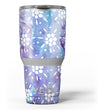 White_Abstract_Flowers_Over_Purple_and_Blue_Cloud_Mix_-_Yeti_Rambler_Skin_Kit_-_30oz_-_V3.jpg