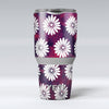 White_Floral_Pattern_Over_Red_and_Purple_Grunge_-_Yeti_Rambler_Skin_Kit_-_30oz_-_V1.jpg