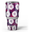White_Floral_Pattern_Over_Red_and_Purple_Grunge_-_Yeti_Rambler_Skin_Kit_-_30oz_-_V3.jpg
