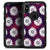 White Floral Pattern Over Red and Purple Grunge - Skin Kit for the iPhone OtterBox Cases
