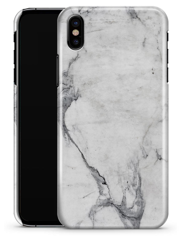 White & Grey Marble Surface V1 - iPhone X Clipit Case