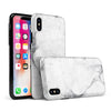 White & Grey Marble Surface V1 - iPhone X Swappable Hybrid Case