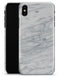 White & Grey Marble Surface V2 - iPhone X Clipit Case