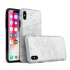White & Grey Marble Surface V2 - iPhone X Swappable Hybrid Case