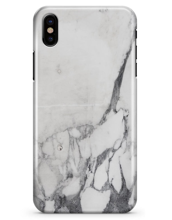 White & Grey Marble Surface V3 - iPhone X Clipit Case