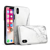 White & Grey Marble Surface V3 - iPhone X Swappable Hybrid Case