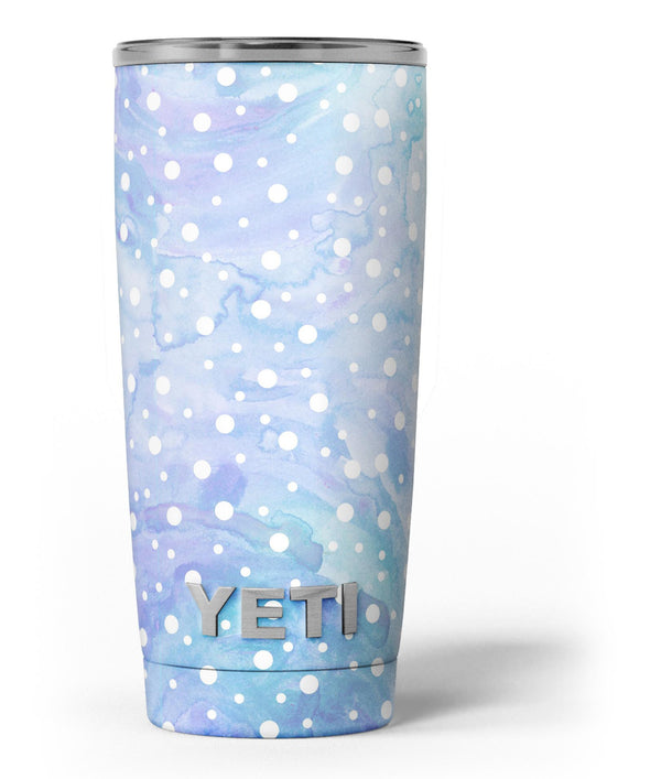 White_Mircro_Dots_Over_Blue_Watercolor_Grunge_-_Yeti_Rambler_Skin_Kit_-_20oz_-_V3.jpg