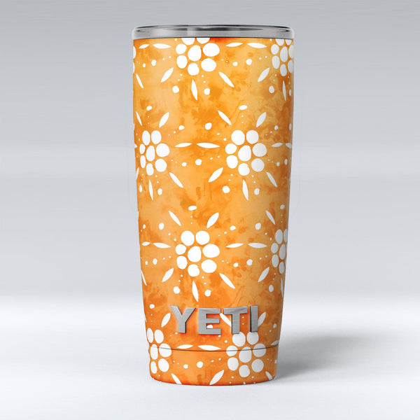 White_Pedals_Over_Watercolored_Shades_of_Orange_-_Yeti_Rambler_Skin_Kit_-_20oz_-_V1.jpg