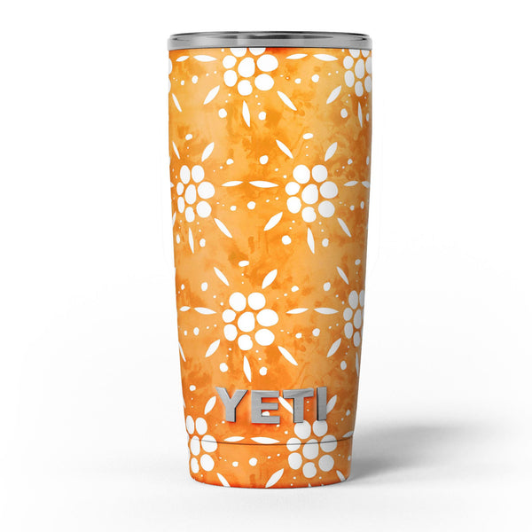 White_Pedals_Over_Watercolored_Shades_of_Orange_-_Yeti_Rambler_Skin_Kit_-_20oz_-_V5.jpg
