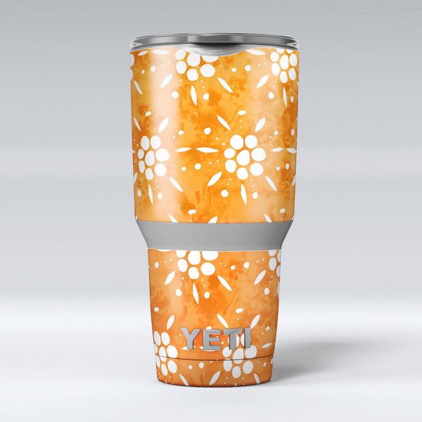 White_Pedals_Over_Watercolored_Shades_of_Orange_-_Yeti_Rambler_Skin_Kit_-_30oz_-_V1.jpg