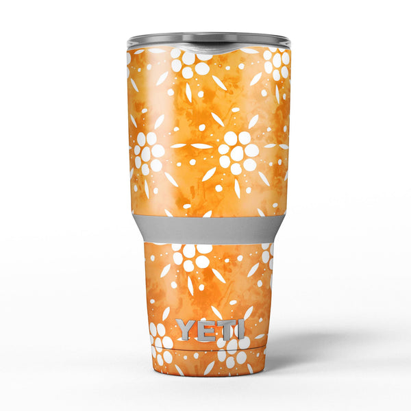 White_Pedals_Over_Watercolored_Shades_of_Orange_-_Yeti_Rambler_Skin_Kit_-_30oz_-_V5.jpg