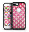 White Polka Dots Over Grungy Pink  - iPhone 7 or 7 Plus Commuter Case Skin Kit