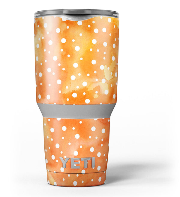 White_Polka_Dots_Over_Orange_Watercolor_Grunge_-_Yeti_Rambler_Skin_Kit_-_30oz_-_V3.jpg