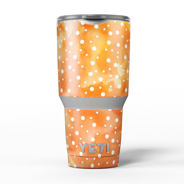 White_Polka_Dots_Over_Orange_Watercolor_Grunge_-_Yeti_Rambler_Skin_Kit_-_30oz_-_V5.jpg