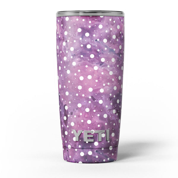 White_Polka_Dots_Over_Purple_Pink_Paint_Mix_-_Yeti_Rambler_Skin_Kit_-_20oz_-_V5.jpg