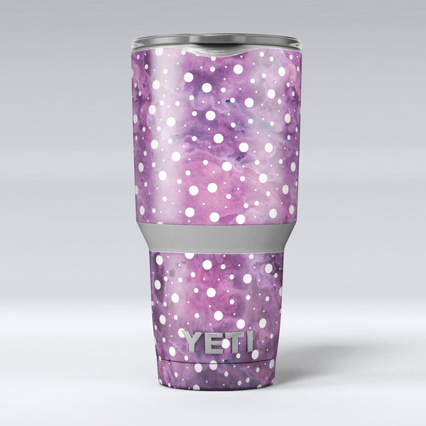 White_Polka_Dots_Over_Purple_Pink_Paint_Mix_-_Yeti_Rambler_Skin_Kit_-_30oz_-_V1.jpg