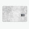 White Scratched Marble - Premium Protective Decal Skin-Kit for the Apple Credit Card