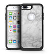 White Scratched Marble - iPhone 7 or 7 Plus Commuter Case Skin Kit