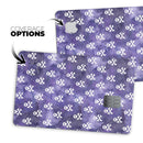 White Skulls on Purple Watercolor - Premium Protective Decal Skin-Kit for the Apple Credit Card