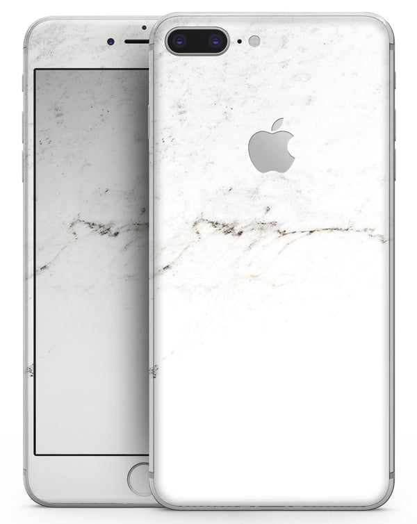 White Slight Grunge Marble Surface - Skin-kit for the iPhone 8 or 8 Plus