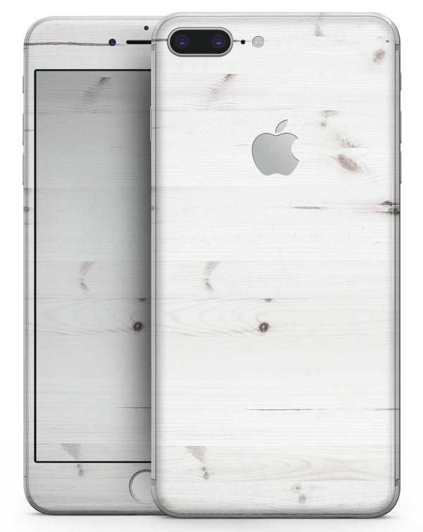White Vertical Wood Planks  - Skin-kit for the iPhone 8 or 8 Plus