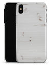 White Vertical Wood Planks  - iPhone X Clipit Case