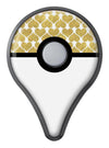 White and Gold Foil Hearts v11 Pokémon GO Plus Vinyl Protective Decal Skin Kit