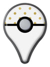 White and Gold Foil Polka v12 Pokémon GO Plus Vinyl Protective Decal Skin Kit