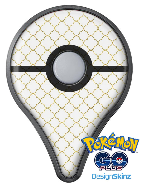 White and Gold Foil v5 Pokémon GO Plus Vinyl Protective Decal Skin Kit