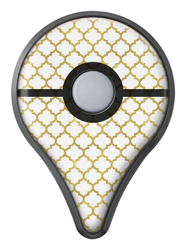 White and Gold Foil v6 Pokémon GO Plus Vinyl Protective Decal Skin Kit