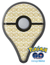 White and Gold Foil v7 Pokémon GO Plus Vinyl Protective Decal Skin Kit