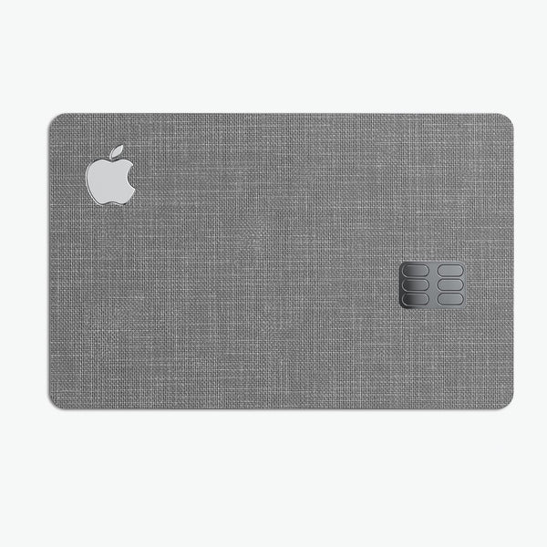 White and Gray Scratched Fabric Surface - Premium Protective Decal Skin-Kit for the Apple Credit Card