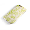 White and Green Floral Damask Pattern iPhone 6/6s or 6/6s Plus 2-Piece Hybrid INK-Fuzed Case