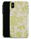 White and Green Floral Damask Pattern - iPhone X Clipit Case