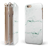 White and Green Marble Surface iPhone 6/6s or 6/6s Plus 2-Piece Hybrid INK-Fuzed Case