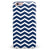 White and Navy Chevron Stripes iPhone 6/6s or 6/6s Plus INK-Fuzed Case