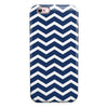 White and Navy Chevron Stripes iPhone 6/6s or 6/6s Plus 2-Piece Hybrid INK-Fuzed Case