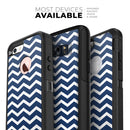 White and Navy Chevron Stripes - Skin Kit for the iPhone OtterBox Cases