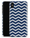 White and Navy Chevron Stripes - iPhone X Clipit Case