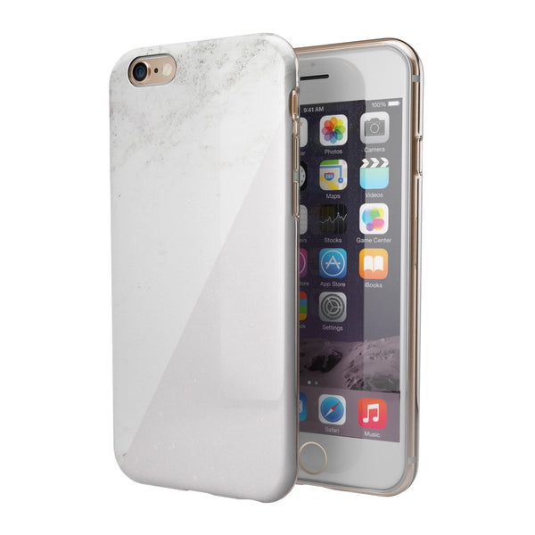 White and Nuetral Marble Slab iPhone 6/6s or 6/6s Plus 2-Piece Hybrid INK-Fuzed Case