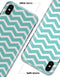 White and Teal Chevron Stripes - iPhone X Clipit Case