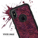 Wine Watercolor Tiger Pattern - Skin Kit for the iPhone OtterBox Cases