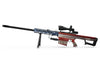 Wooden Grungy American Flag - Barrett Model 82A1 .50 Caliber Rifle Skin-Kit