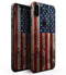 Wooden Grungy American Flag - iPhone XS MAX, XS/X, 8/8+, 7/7+, 5/5S/SE Skin-Kit (All iPhones Available)
