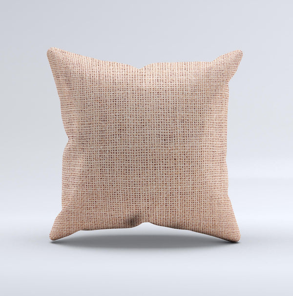 Woven Burlap ink-Fuzed Decorative Throw Pillow