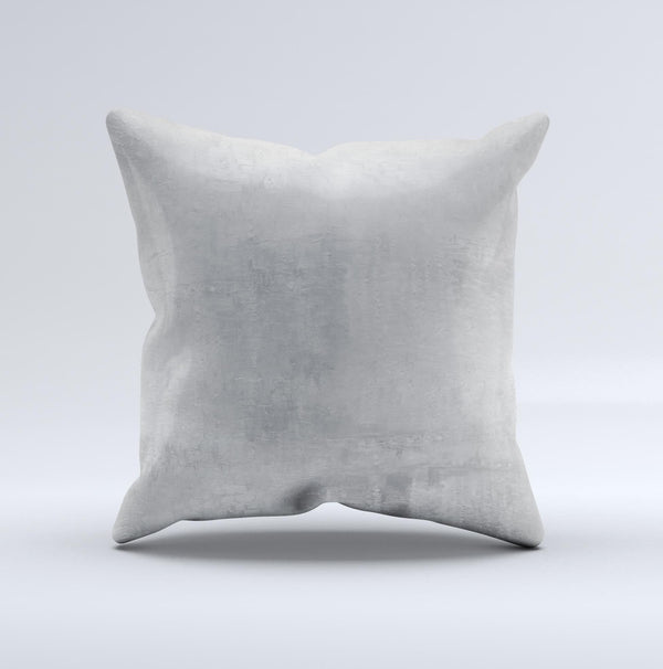 Wrinkled Silver Surface ink-Fuzed Decorative Throw Pillow